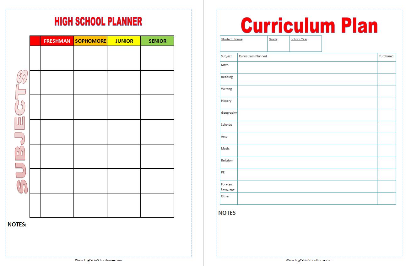 elementary school planners