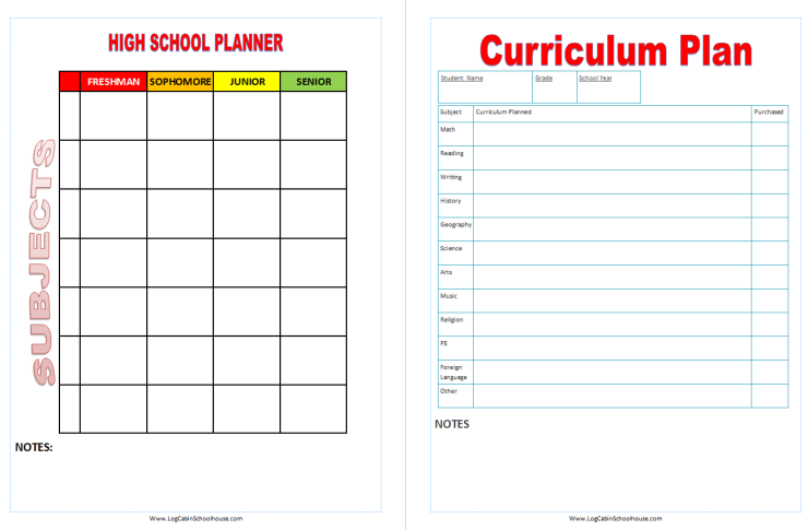 monthly homeschool planning birthdays elementary middle and high school subject planners