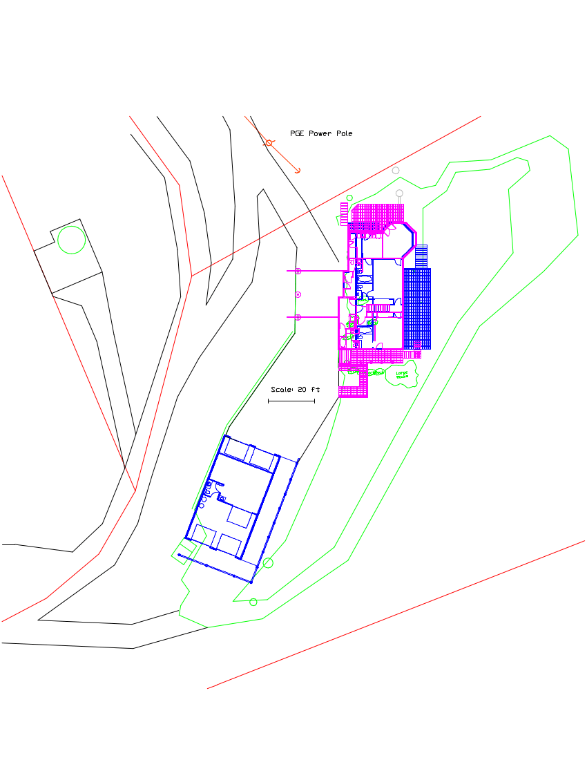 A siteplan of the property with the new structures in place