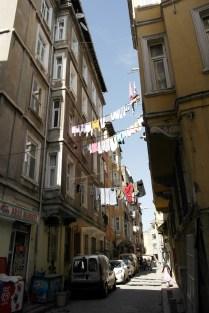 wapperende was in de wijk Beyoglu