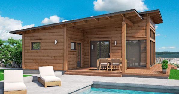 Houten vakantiehuis bouwen loggs houtbouw for Vakantiehuis bouwen