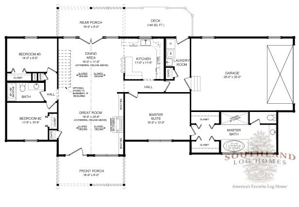 Madison Home Log Plan By Southland Log Homes