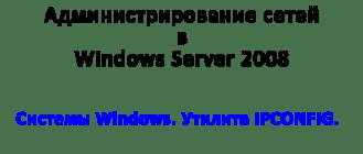 Системы Windows. Утилита IPCONFIG