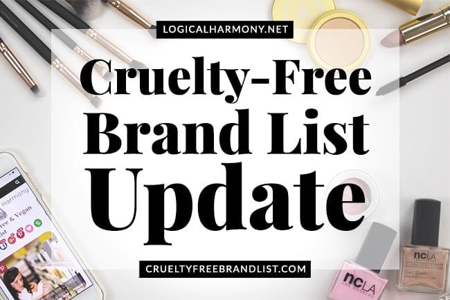 Cruelty-Free Brand List Update