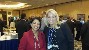 Renae Johnson, Logicalis VP of Cisco Solutions, with our host Mala Anand (Photo courtesy Mike Johnson)