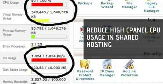 Reduce High cPanel CPU Usage in Shared Hosting