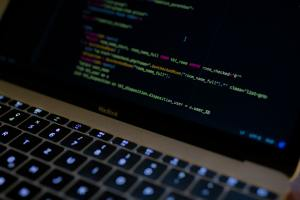 A Laptop Screen Showing Code
