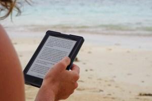 Using an eBook Reader at the Beach
