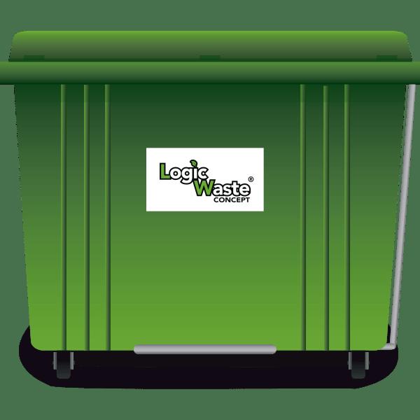 LogicWaste ® 1700 liter rolcontainer