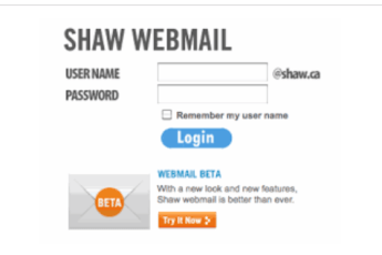 Shaw Webmail login