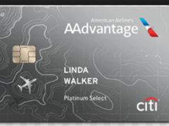 The Citi AAdvantage Platinum Select credit card