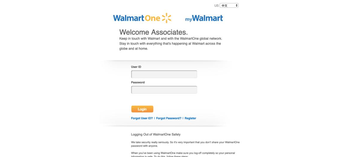 WalmartOne Associate Login
