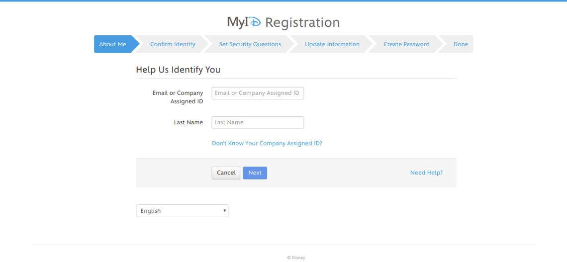 MyID Self Service First User