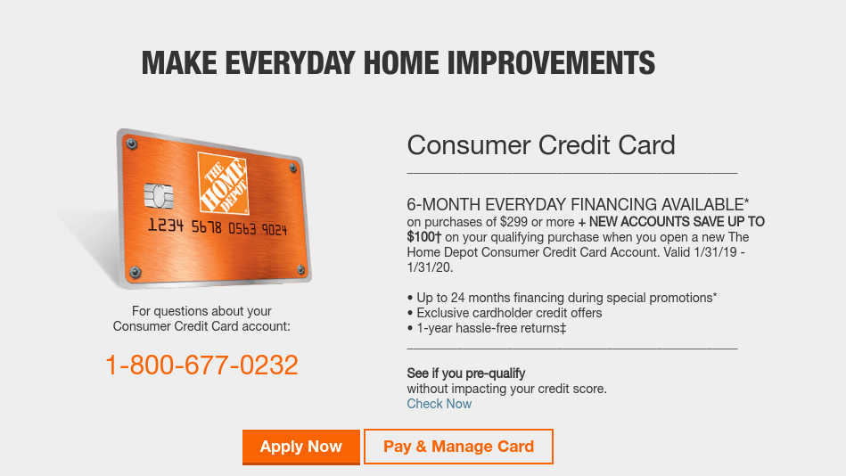 With the new synchrony home credit card, you can earn 2% cash back rewards on purchases 2 under $299 automatically credited to your billing statement at cycle. www.myhomedepotaccount.com - Home Depot Consumer Credit Card Apply - Login Helps