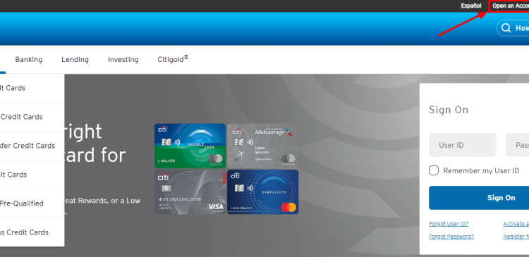 www.paymentsolutions.citicards.com - Citi Credit Cards Application