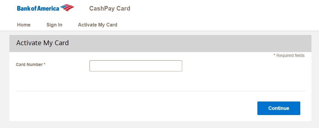 CashPay Card Activation online