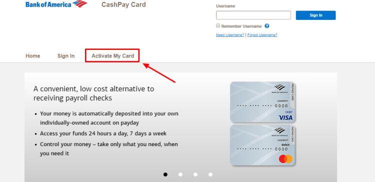 CashPay Card Activation