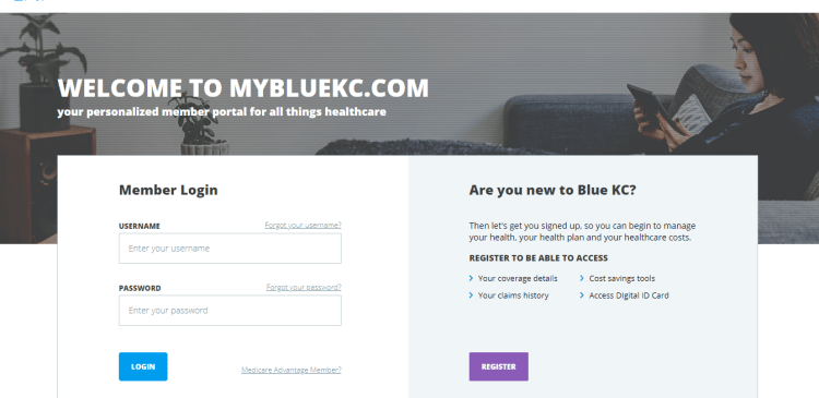 Blue KC Member Portal login