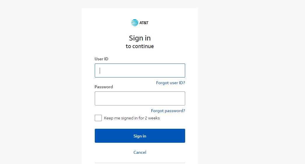 AT&T Customer login