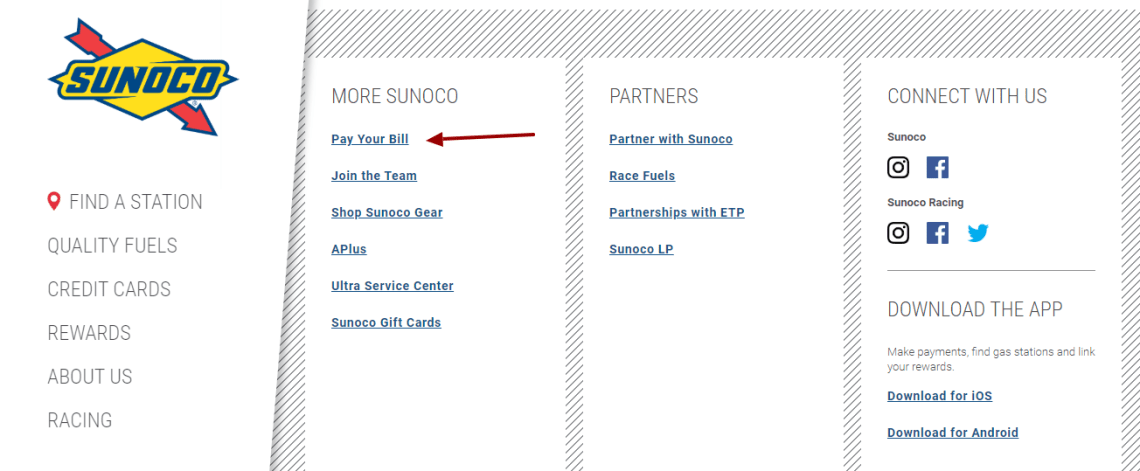 Sunoco Credit Card Login