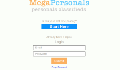 MegaPersonals Login