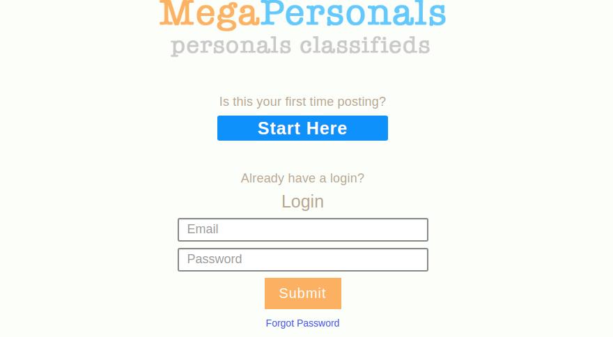 MegaPersonals Login
