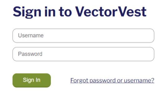 vectorvest login
