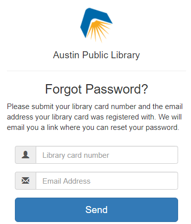 Austin Public Library Sign up