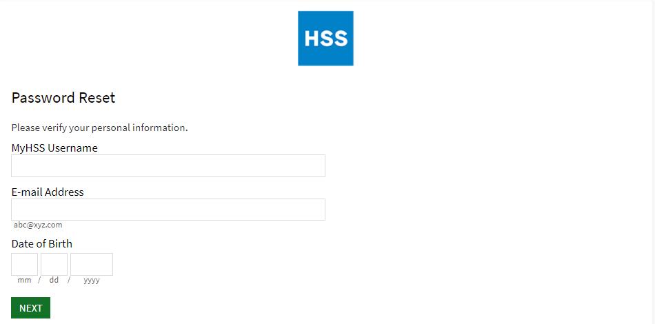HSS staff Login