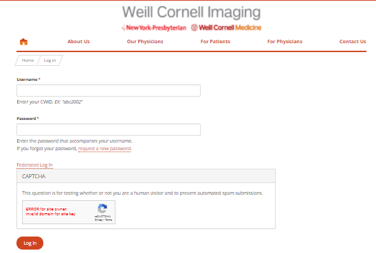 Weill-Cornell-Imaging login