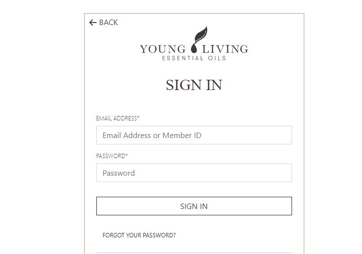 young living virtual office login