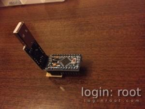 Arduino + CP2102 assembled