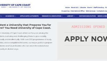 University of Cape Coast student sign-in portal