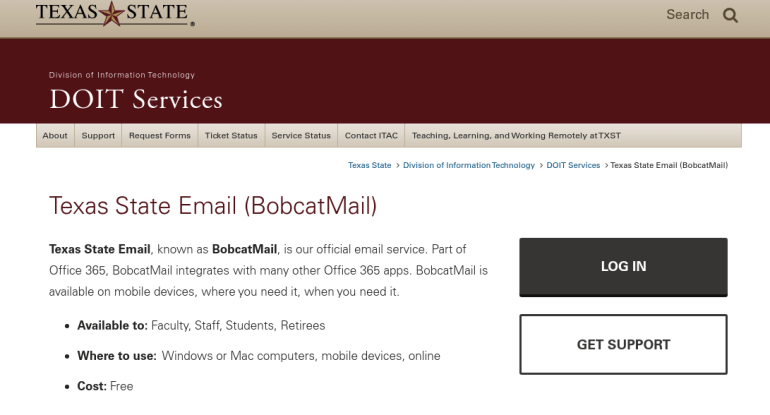 Bobcatmail Login: Access Texas State Email Bobcat Mail At www.Bobcatmail.com