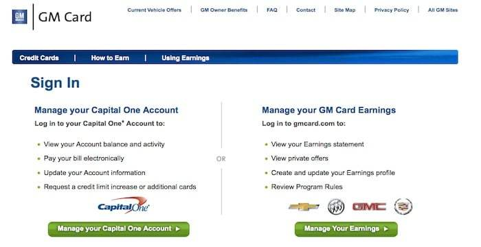 GM Card Login, Registration, Activation & Pay Bills Online At www.capitalonecardservice.com