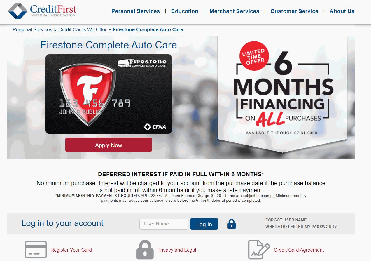 Firestone Credit Card Login Cfna Bill Payment