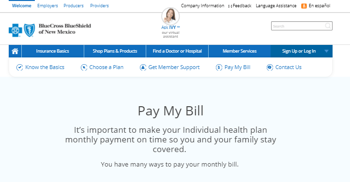Blue Cross Blue Shield of New Mexico Bill Pay