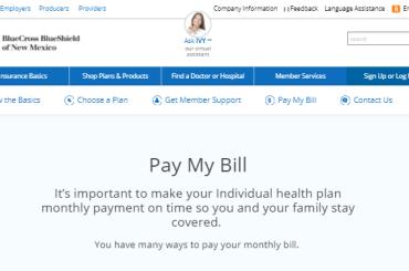 Blue Cross Blue Shield of New Mexico Bill Pay