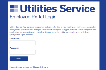 Utilities Service Employee Login