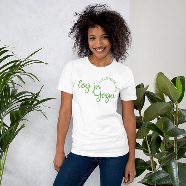 log in yoga t-shirt
