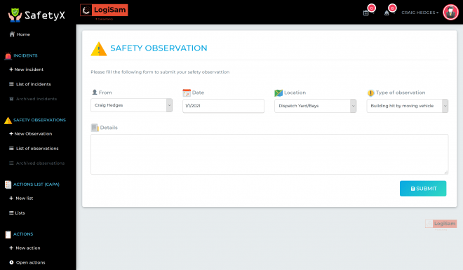 SafetyX-Safety-Observation