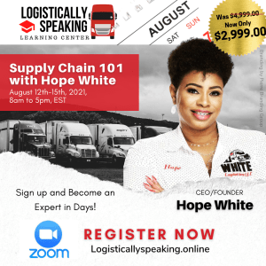 Supply Chain 101 by ZOOM (4-day course) August 12th-15th,2021