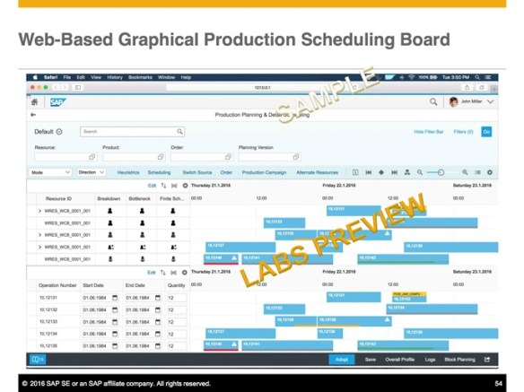 enhancements in sap production planning and scheduling and future
