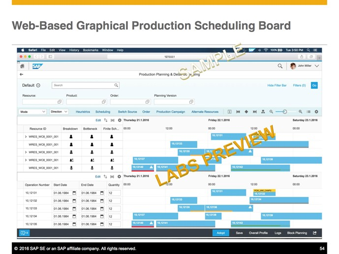 SAP Screen Shot