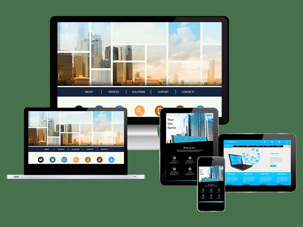 Devises showing different websites