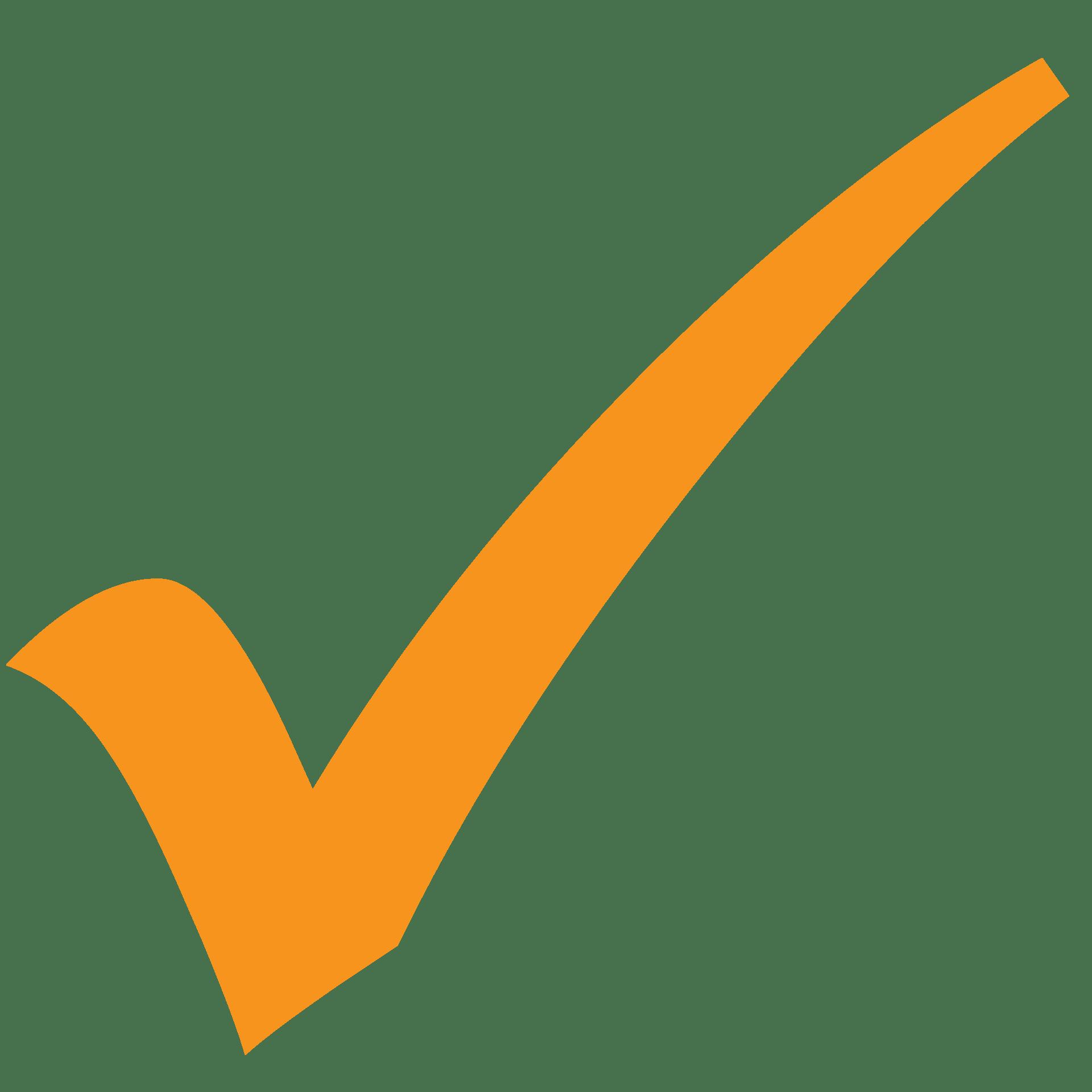 checkmark in orange