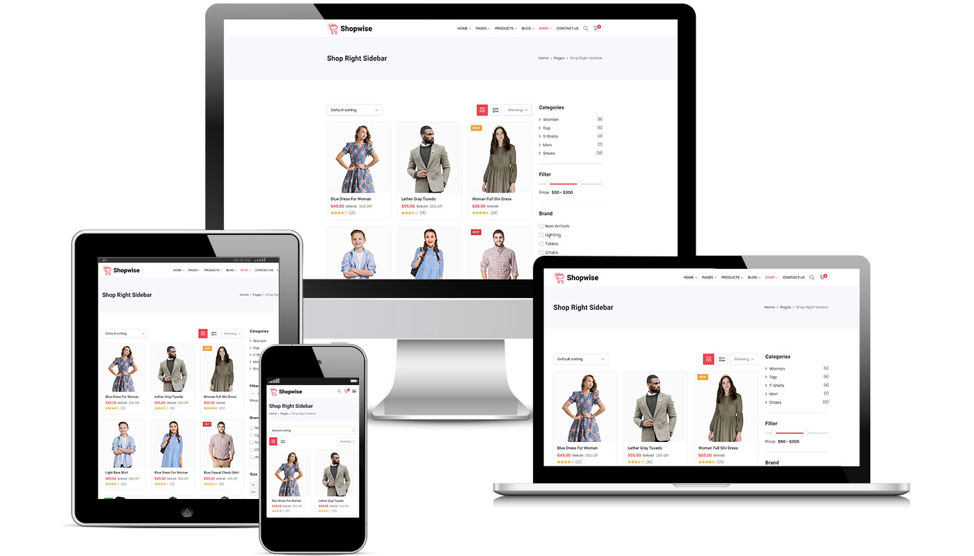 Responsibe website cloth products