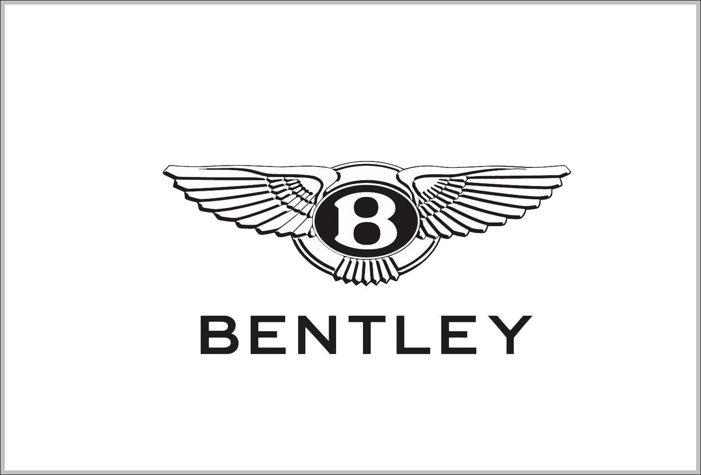 Bentley Brand Logo Sign