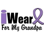 I Wear Violet Ribbon For My Grandpa