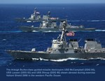 Three Destroyers Abreast